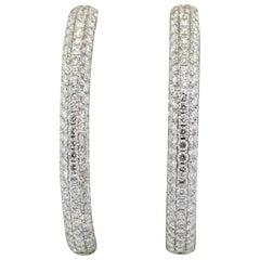 Exceptional Diamond Gold Hoop Earrings