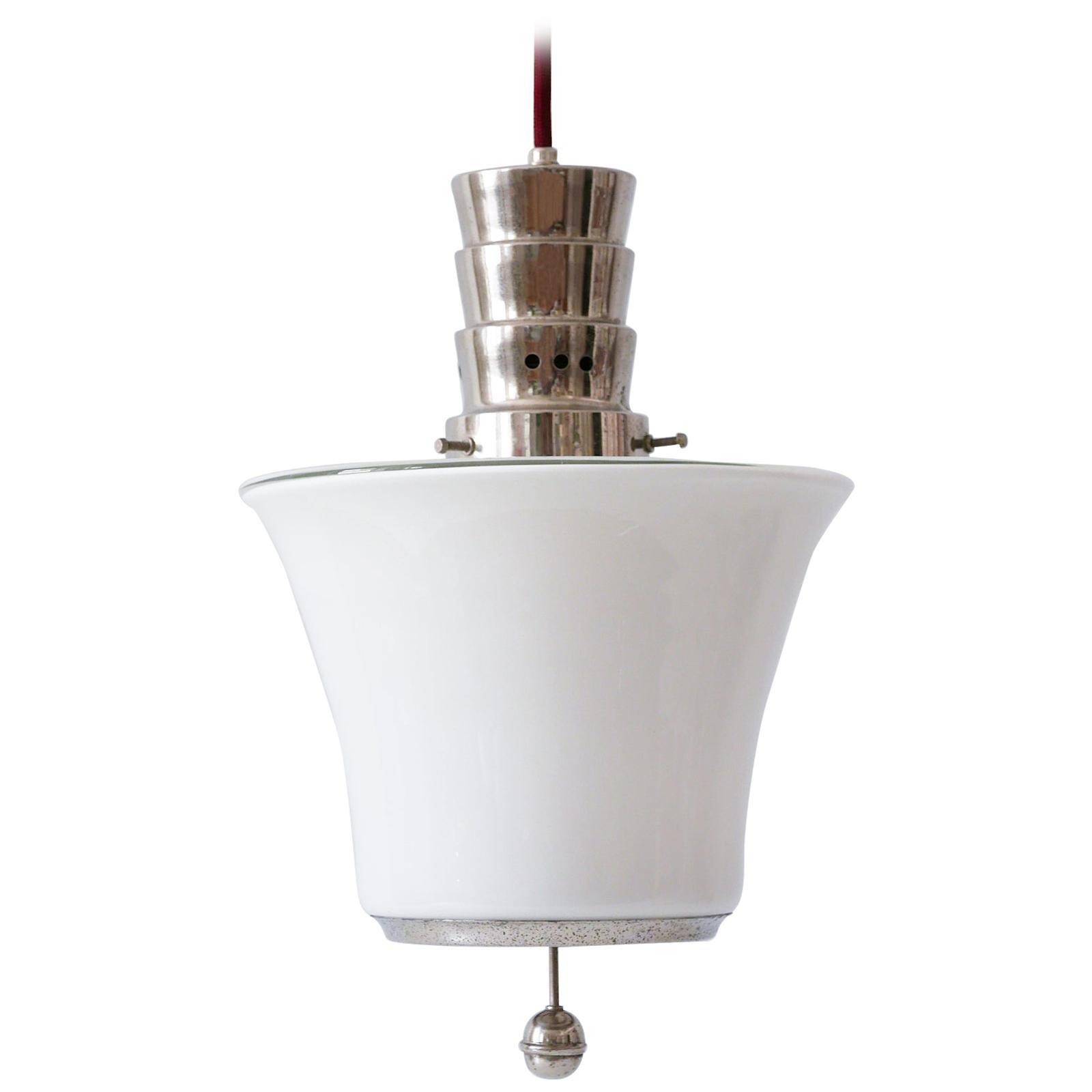 Exceptional Dr. Twerdy Original Bauhaus Art Deco Pendant Lamp, 1920s, Germany
