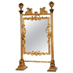 Exceptional Early 19th Century Empire Cheval Mirror, Russia or Sweden