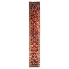 Exceptional Early 20th Century Antique Sarouk Runner