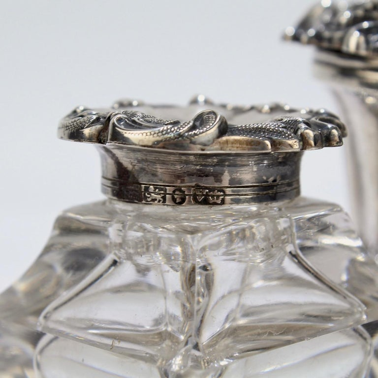 Exceptional Early Victorian English Sterling Silver Inkstand by Henry Wilkinson For Sale 8