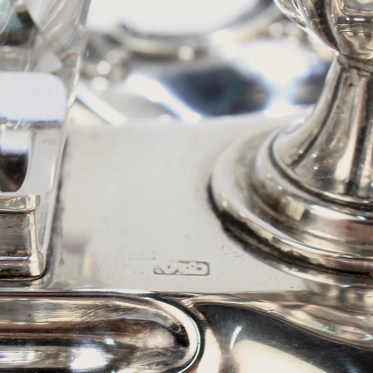 Exceptional Early Victorian English Sterling Silver Inkstand by Henry Wilkinson For Sale 10