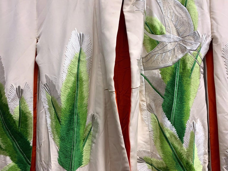 Exceptional Embroidered Brocade Vintage Japanese Ceremonial Kimono For Sale 4