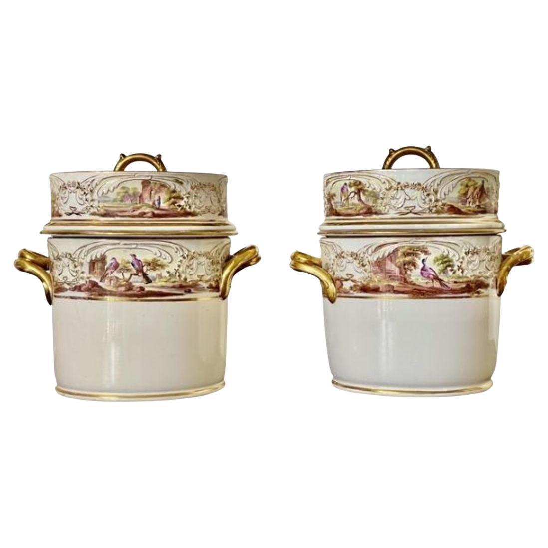 Exceptional English Regency Porcelain Fruit Coolers, Circa 1810