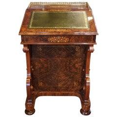 Exceptional English Victorian Inlaid Walnut Davenport Desk, circa 1870