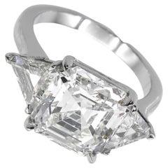 Exceptional Flawless GIA Certified 10.40 Carat Asscher Cut Diamond Ring