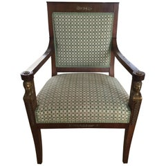 Exceptional French 19th Century Empire Armchair