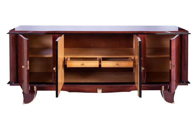 Exceptional French Art Deco Buffet by J. Leleu In Good Condition For Sale In Kingston, NY
