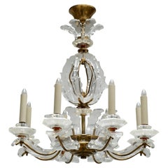 Exceptional French Art Deco Chandelier by Ernest Sabino