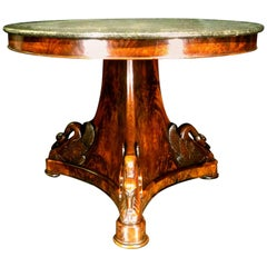 An Exceptional French Empire Period Mahogany Pedestal Centre Table, Circa 1815