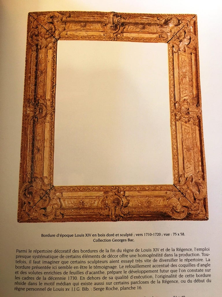 Exceptional French Regence Period Carved and Giltwood Mirror, Frame, France For Sale 7