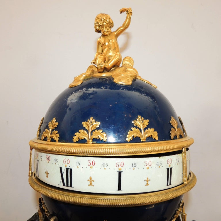 Late 19th Century Exceptional French Three Graces Piece Rotary Mystery Clock Set Candelabra Suite For Sale