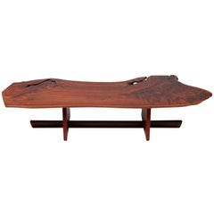 Exceptional George Nakashima Minguren 1 Coffee Table, 1981