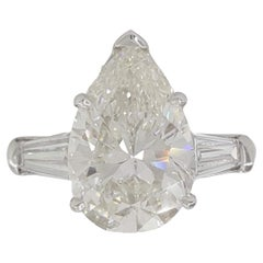 Exceptional GIA 2.20 Carat Certified Pear Cut Diamond Ring
