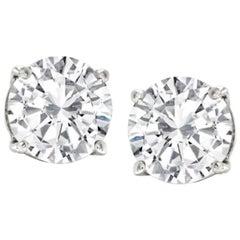 Exceptional GIA 6 Carat Diamond Studs