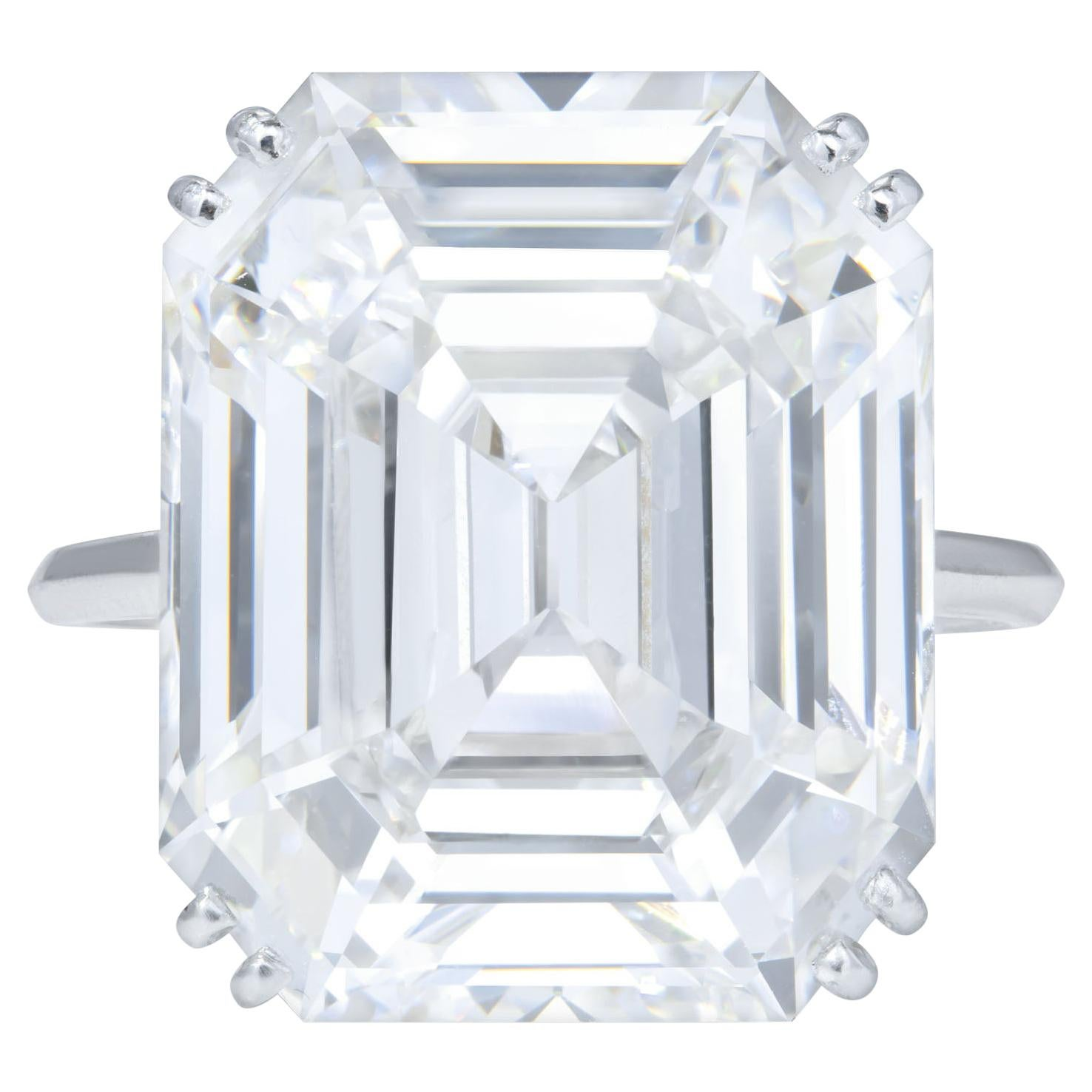 Exceptional GIA Certified 10.68 Carat Emerald Cut Diamond Ring