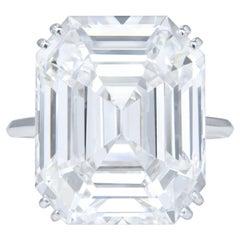 Exceptional GIA Certified 10 Carat E Color VVS Clarity Emerald Cut Diamond Ring