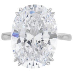 GIA Certified 10 Carat Oval Diamond Ring VS2 F Color