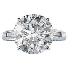Exceptional GIA Certified 12.50 Carat Round Diamond Ring E Color
