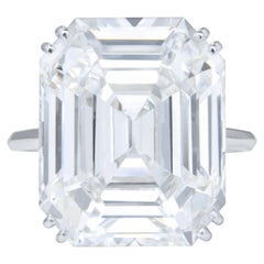 GIA Certified 4 Carat Emerald Cut Diamond Ring