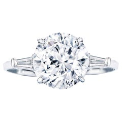 Exceptional GIA Certified 4.58 Carat Type 2A Flawless Round Diamond Ring