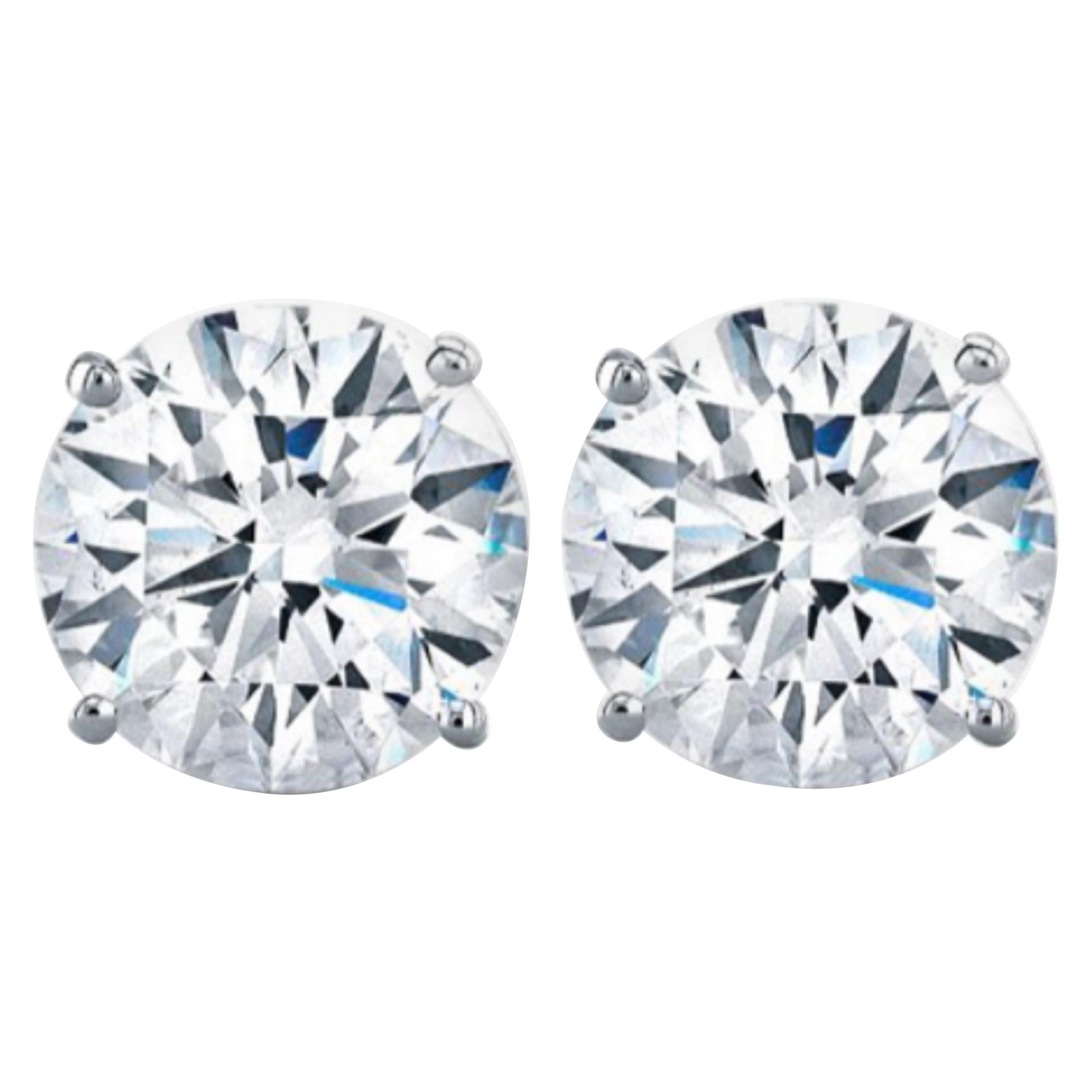 GIA Certified 6.02 Carat VVS1/SI1 Clarity H Color Diamond Studs
