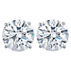 GIA Certified 6 Carat VVS Clarity D/F Color Diamond Studs