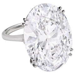 Exceptional GIA Certified 7.02 Carat Oval Diamond E Color VS2 Clarity Excellent