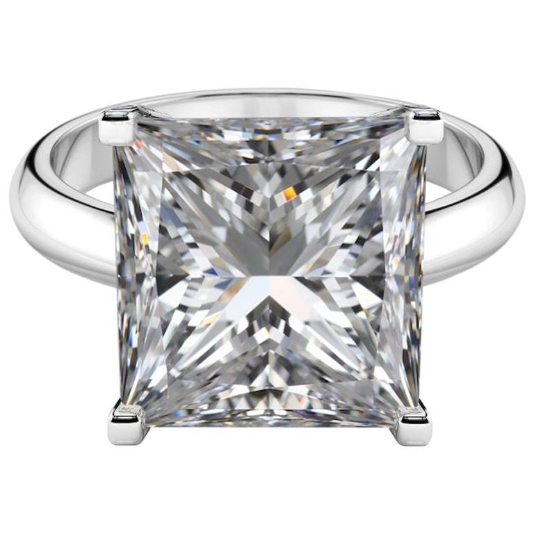GIA Certified 10 Carat Diamond Platinum Ring Excellent Cut
