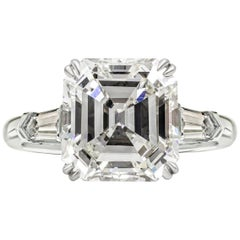 GIA Certified 9.02 Carat Asscher Cut Diamond VS1 Clarity I Color