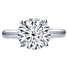 GIA Certified VVS Clarity D Color 3 Carat Diamond Ring