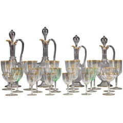 Exceptional Glasses Set Attributed to Baccarat