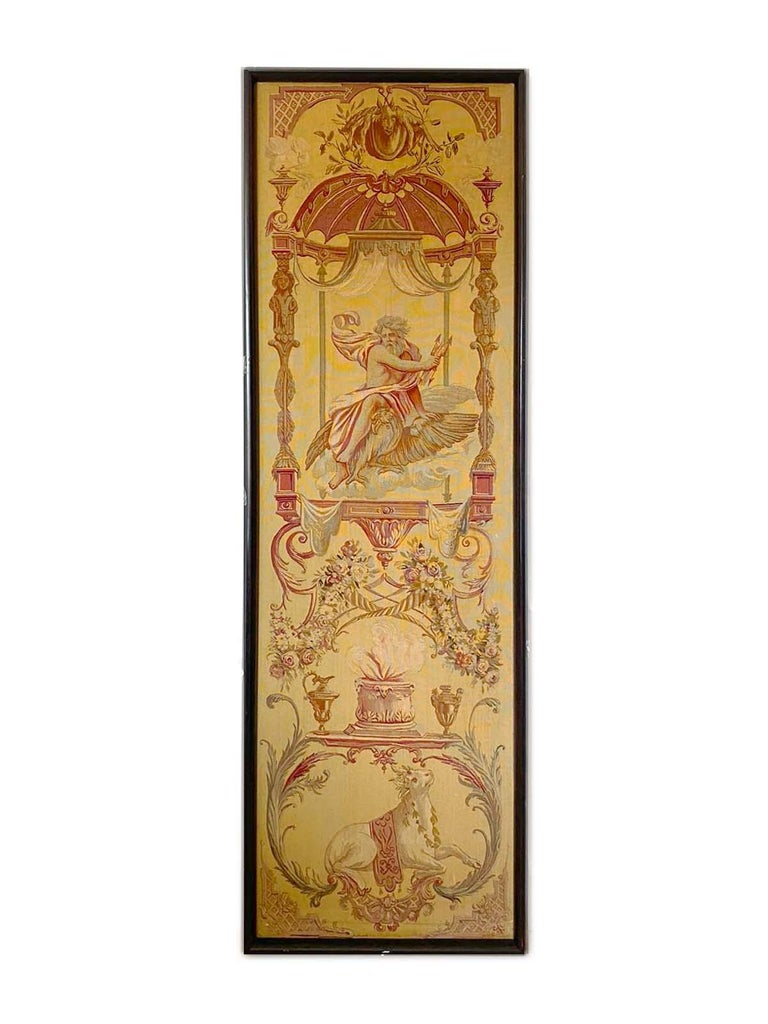 French Exceptional Group of 5 Aubusson Tapestries, Perfect Condition For Sale