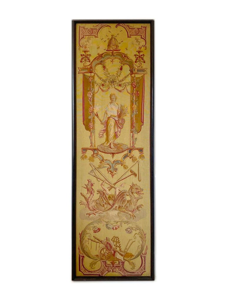 Hand-Knotted Exceptional Group of 5 Aubusson Tapestries, Perfect Condition For Sale