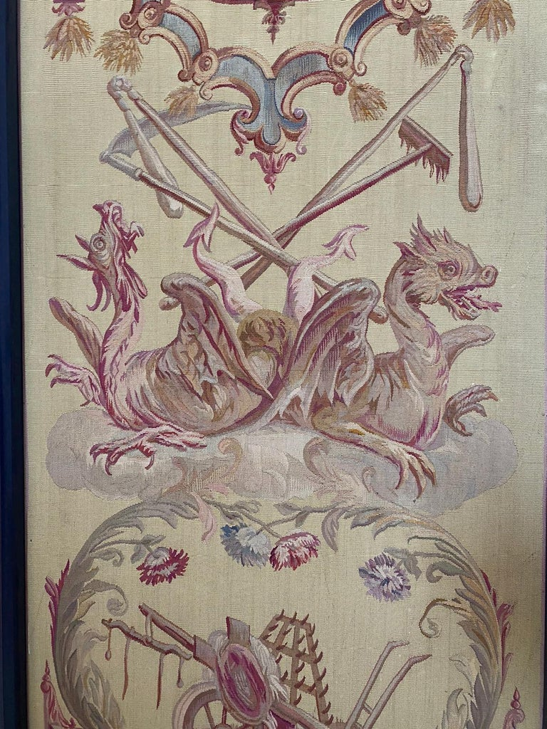 Wool Exceptional Group of 5 Aubusson Tapestries, Perfect Condition For Sale