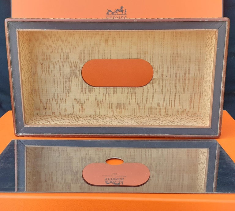 Exceptional Hermès 8 Pieces Desk Set in Lacquered Wood RARE For Sale 9