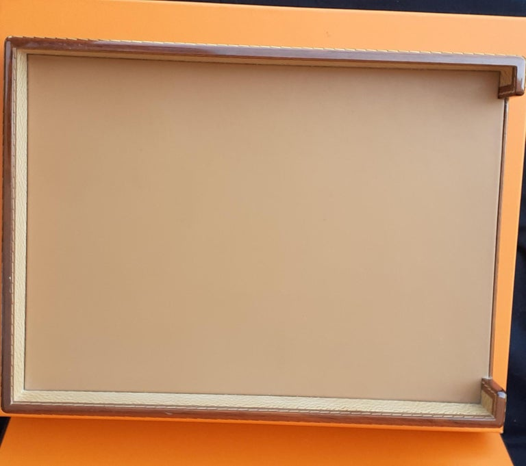 Exceptional Hermès 8 Pieces Desk Set in Lacquered Wood RARE For Sale 11