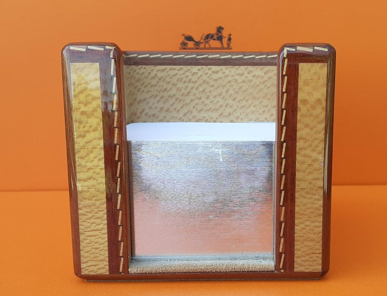 Exceptional Hermès 8 Pieces Desk Set in Lacquered Wood RARE For Sale 13