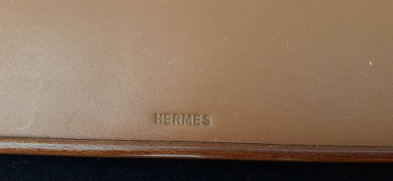 Exceptional Hermès 8 Pieces Desk Set in Lacquered Wood RARE In Good Condition For Sale In ., FR