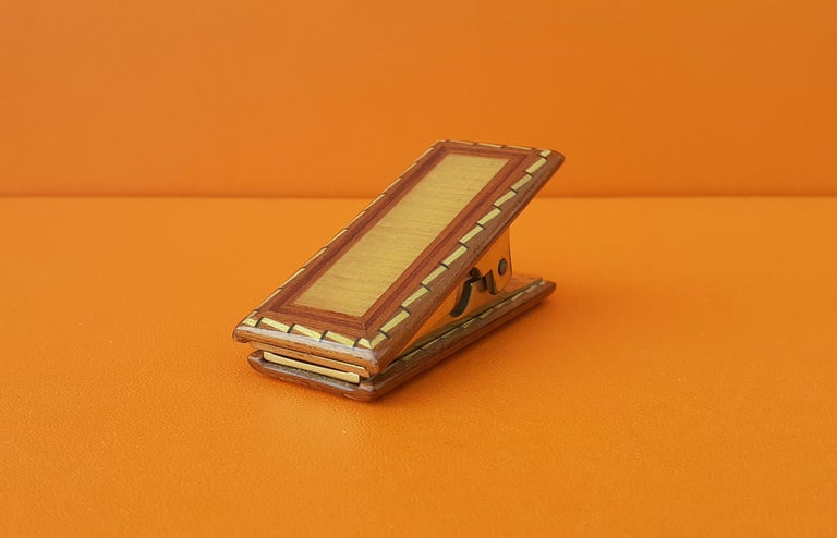 Exceptional Hermès 8 Pieces Desk Set in Lacquered Wood RARE For Sale 4