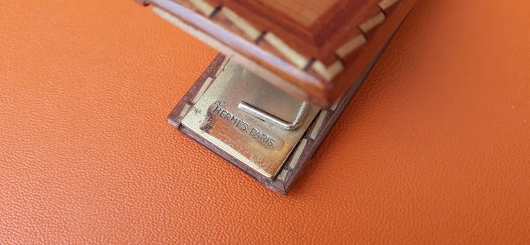 Exceptional Hermès 8 Pieces Desk Set in Lacquered Wood RARE For Sale 5