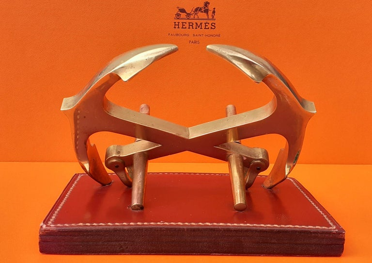 Exceptional Hermès Decorative Marine Anchor Navy Item Chaine d'Ancre In Good Condition For Sale In ., FR