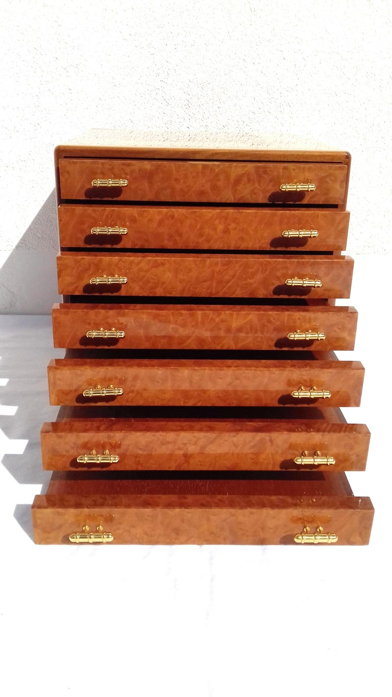 Exceptional Hermès Drawer to store scarves or Jewelry In Wood Inlaid RARE For Sale 2