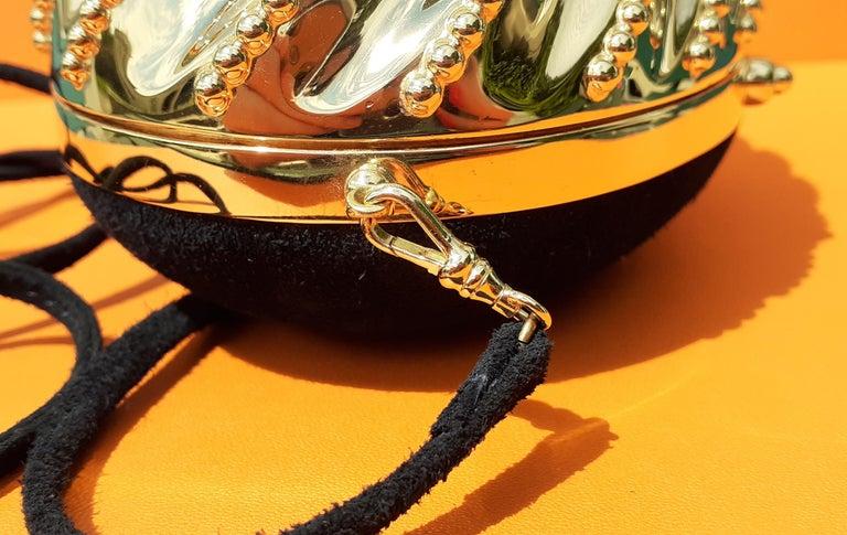 Exceptional Hermès Evening Clutch Bag Minaudière Doblis and Golden Hdw RARE For Sale 6