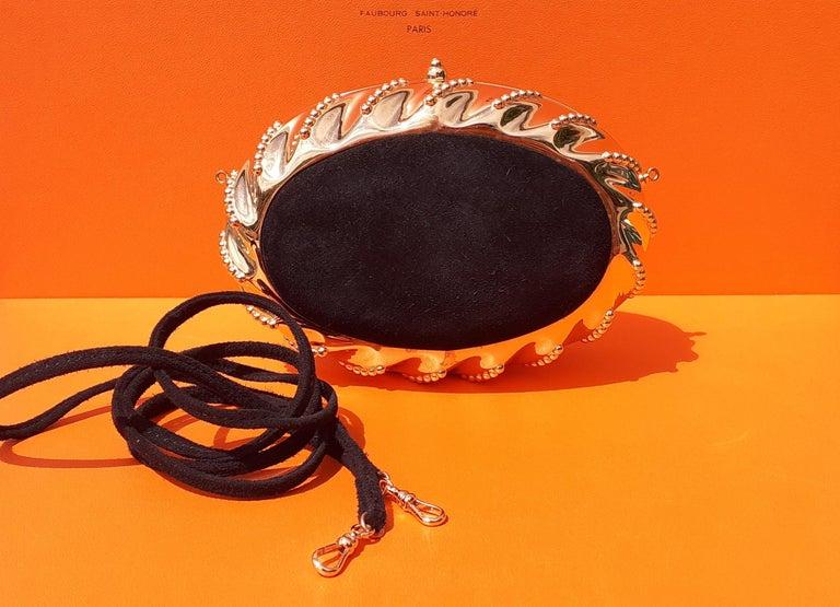 Exceptional Hermès Evening Clutch Bag Minaudière Doblis and Golden Hdw RARE For Sale 7