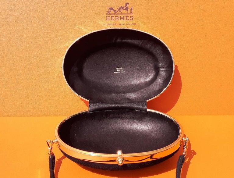 Exceptional Hermès Evening Clutch Bag Minaudière Doblis and Golden Hdw RARE For Sale 9