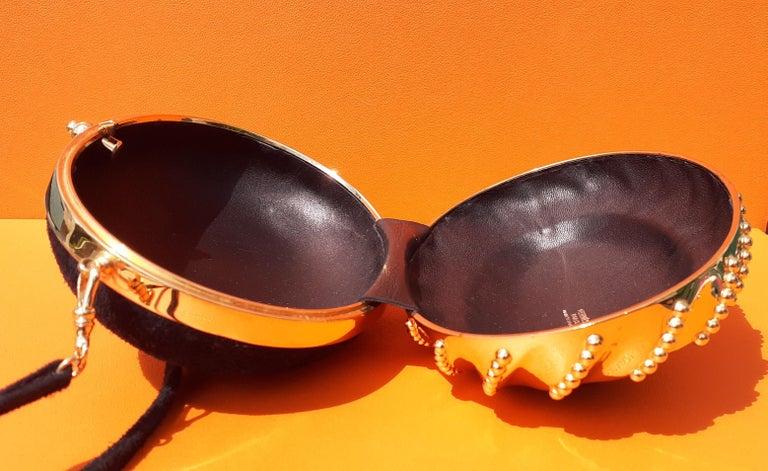 Exceptional Hermès Evening Clutch Bag Minaudière Doblis and Golden Hdw RARE For Sale 10