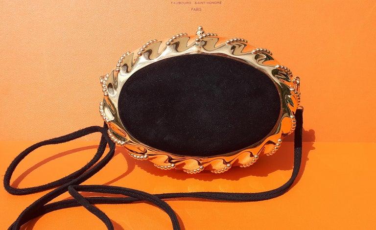 Exceptional Hermès Evening Clutch Bag Minaudière Doblis and Golden Hdw RARE For Sale 12