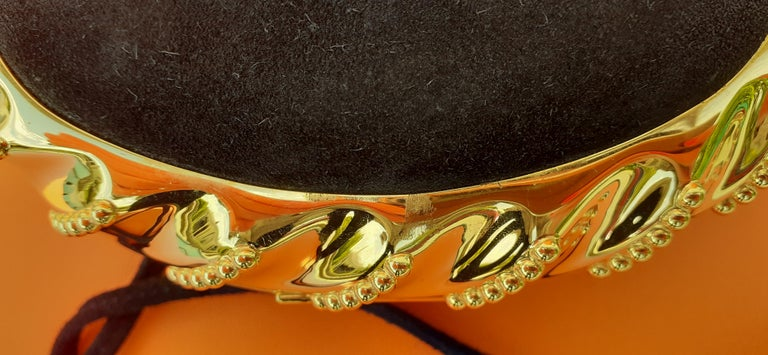 Exceptional Hermès Evening Clutch Bag Minaudière Doblis and Golden Hdw RARE For Sale 13