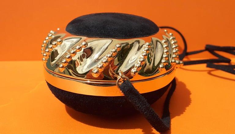 Exceptional Hermès Evening Clutch Bag Minaudière Doblis and Golden Hdw RARE For Sale 2